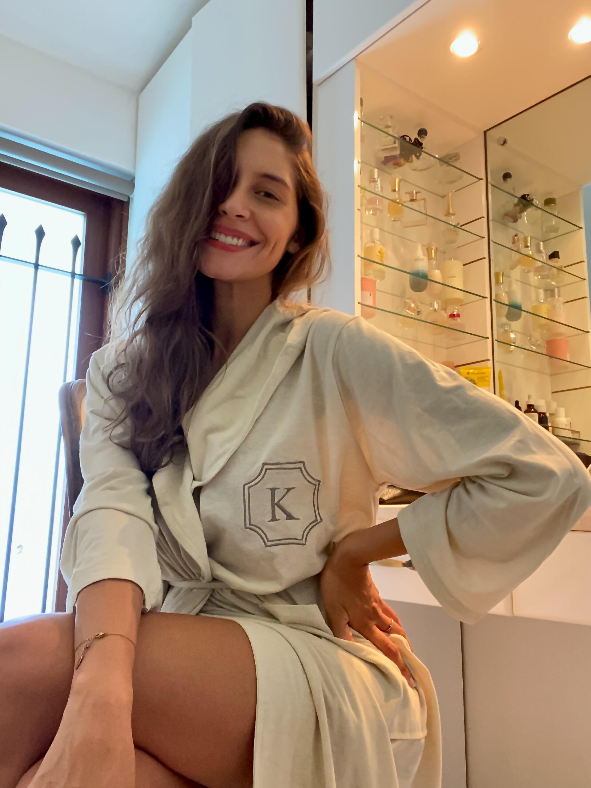 mysa organic coffee ground bathrobe
